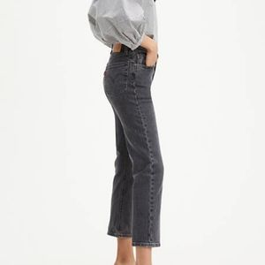Levi's 501 High Rise Straight Fit Crop Jeans